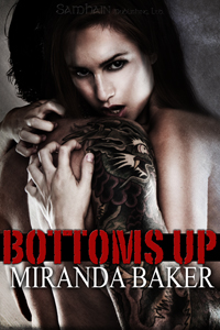 Bottoms Up cover - Hot girl clutching a tattooed man